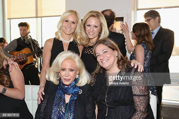Trisha Stern Caludia Warner Harriette Rose Katz and Melissa Rosenbloom attends the Infrared Exhibition on May 16 2016 in New York New York