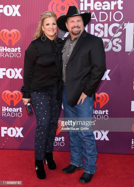 Trisha Yearwood and Garth Brooks arrive at the 2019 iHeartRadio Music Awards which broadcasted live on FOX at Microsoft Theater on March 14, 2019 in...