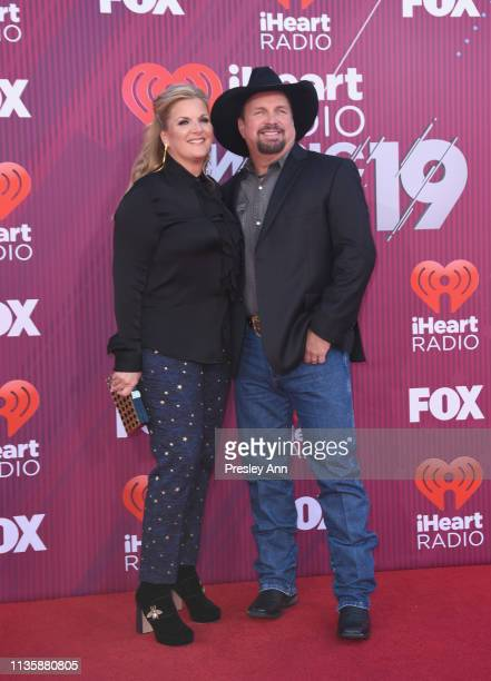 Trisha Yearwood and Garth Brooks attend the 2019 iHeartRadio Music Awards which broadcasted live on FOX at Microsoft Theater on March 14, 2019 in Los...