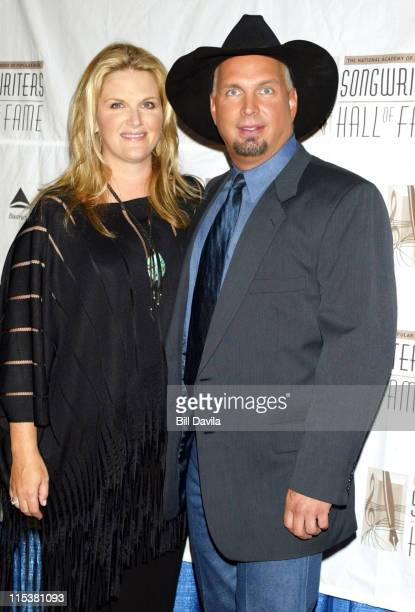 Trisha Yearwood and Garth Brooks during 33rd Annual Songwriters Hall of Fame Awards at Sheraton Hotel in New York City New York United States