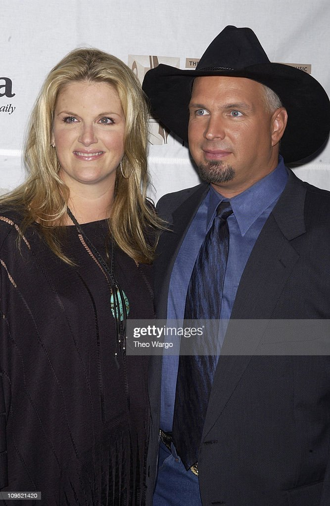 Trisha Yearwood and Garth Brooks during Songwriters Hall of Fame Awards - Press Room at Sheraton Towers in New York City, New York, United States.