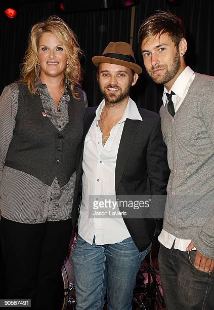 Trisha Yearwood and Rickard Goransson and Chad Wolf of Carolina Liar attend Labels For Education at The Grammy Museum on September 10 2009 in Los...