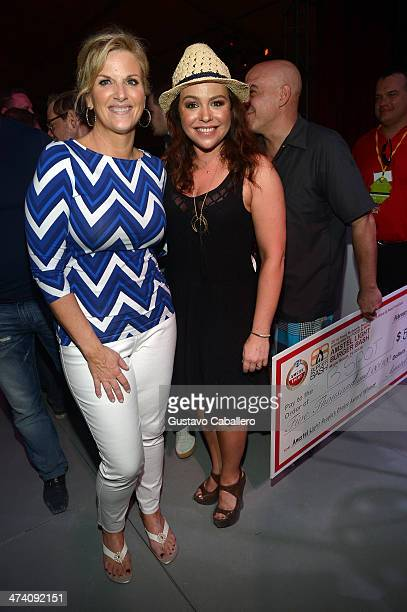 Trisha Yearwood and TV Personality Rachael Ray attend Amstel Light Burger Bash presented by Pat LaFrieda Meats hosted by Rachael Ray during the Food...