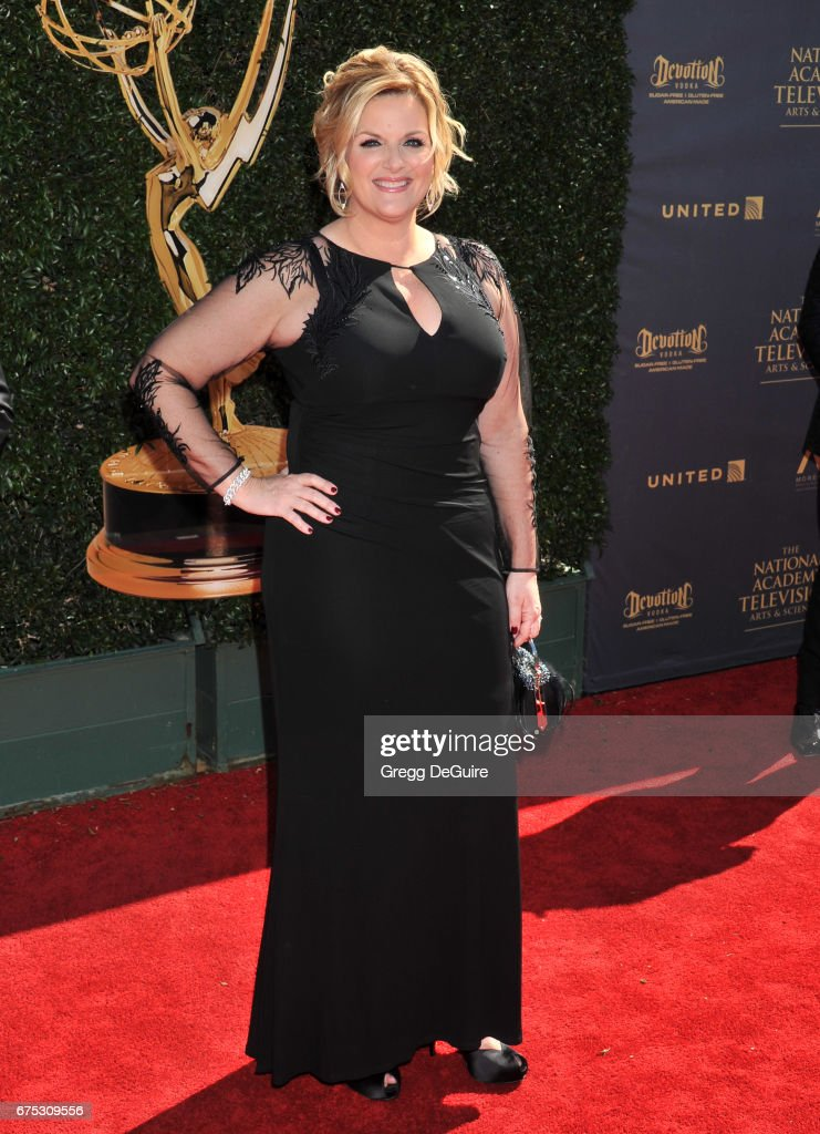 Trisha Yearwood arrives at the 44th Annual Daytime Emmy Awards at Pasadena Civic Auditorium on April 30, 2017 in Pasadena, California.