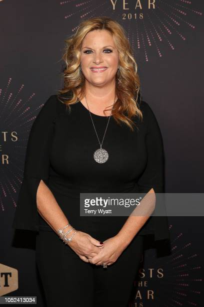 Trisha Yearwood attends the 2018 CMT Artists of The Year at Schermerhorn Symphony Center on October 17 2018 in Nashville Tennessee