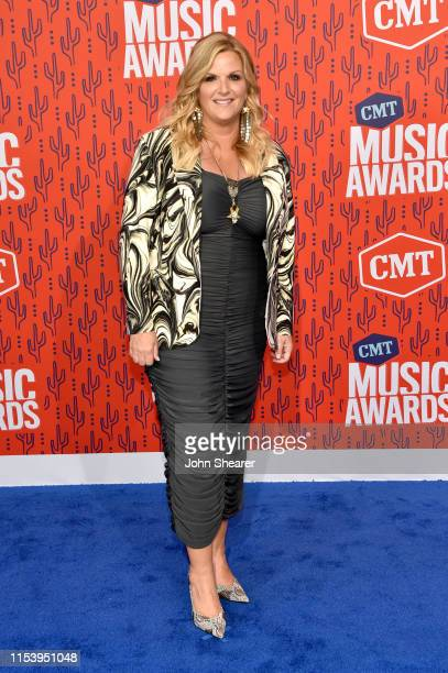 Trisha Yearwood attends the 2019 CMT Music Awards at Bridgestone Arena on June 05 2019 in Nashville Tennessee