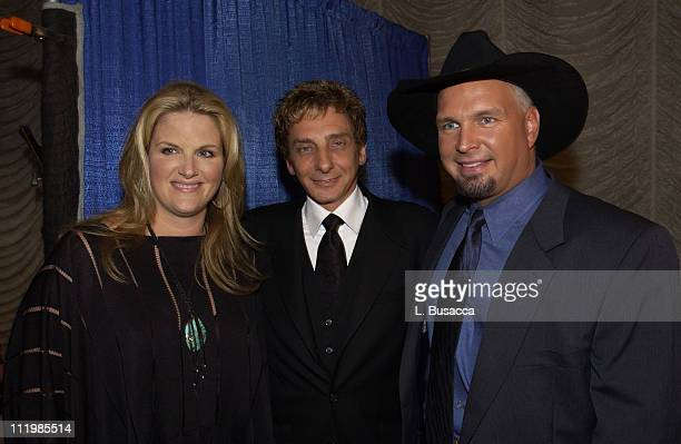 Trisha Yearwood, Barry Manilow & Garth Brooks during Songwriters Hall of Fame Awards - VIP Room at Sheraton Hotel in New York City, New York, United...
