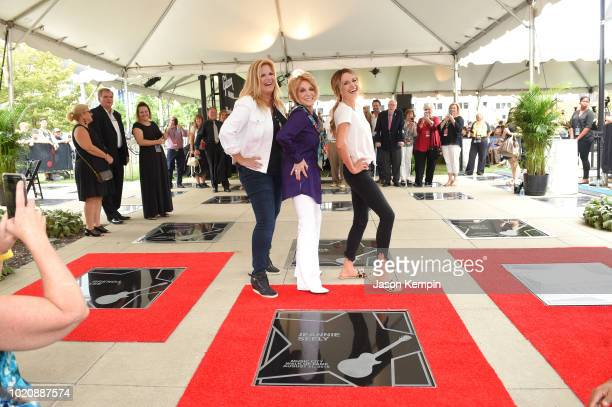 Trisha Yearwood Jeannie Seely and Carly Pearce attend the 2018 Music City Walk Induction Ceremony at Walk of Fame Park on August 21 2018 in Nashville...