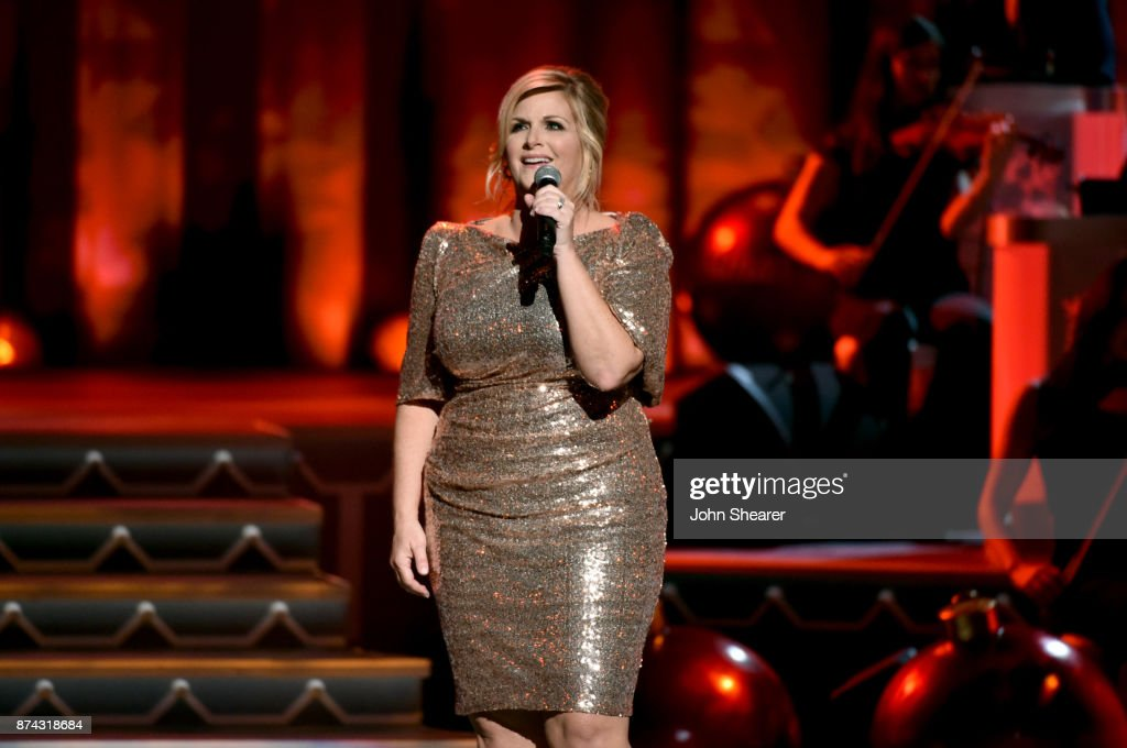 Trisha Yearwood performs onstage for CMA 2017 Country Christmas at The Grand Ole Opry on November 14, 2017 in Nashville, Tennessee.