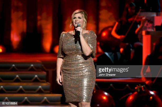 Trisha Yearwood performs onstage for CMA 2017 Country Christmas at The Grand Ole Opry on November 14 2017 in Nashville Tennessee