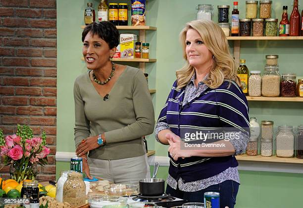 AMERICA Trisha Yearwood shares southern comfort recipes on GOOD MORNING AMERICA 4/6/10 airing on the Walt Disney Television via Getty Images...