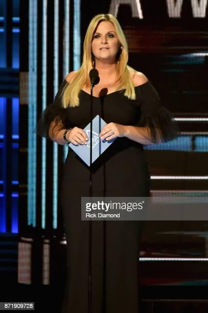Trisha Yearwood speaks onstage at the 51st annual CMA Awards at the Bridgestone Arena on November 8 2017 in Nashville Tennessee