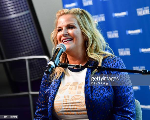 Trisha Yearwood visits a special CMA Fest edition of the Storme Warren Show hosted by Storme Warren on SiriusXM's The Highway Channel at SiriusXM...