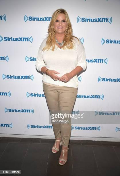 Trisha Yearwood visits SiriusXM Studios on July 09, 2019 in New York City.