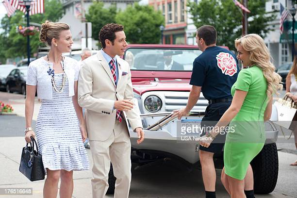 PAINS A Trismus Story Episode 512 Pictured Brooke D'Orsay as Paige Collins Paulo Costanzo as Evan Lawson Laura Bell Bundy as Gina