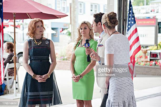 PAINS A Trismus Story Episode 512 Pictured Frances Conroy as Blythe Ballard Laura Bell Bundy as Gina Paulo Costanzo as Evan Lawson Brooke D'Orsay as...