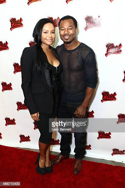 Trista Pisani and Boxer Sugar Shane Mosley attends the 20th Anniversary Of Phat Tuesdays at Club Nokia on September 1 2015 in Los Angeles California