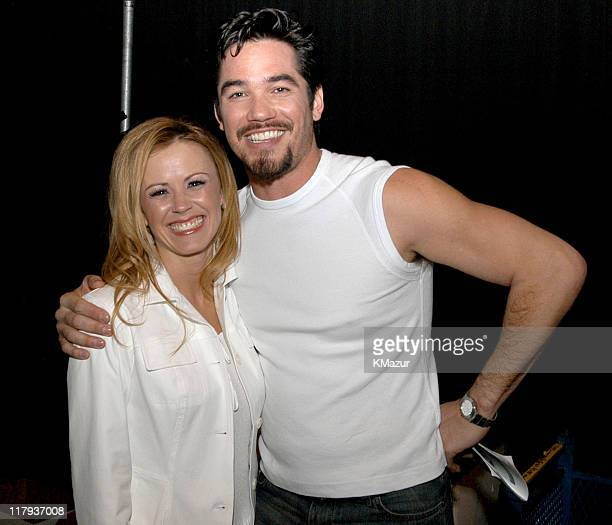 Trista Rehn and Dean Cain during Super Bowl XXXVII 7th Annual NFL Gridiron Glamour Backstage at San Diego Convention Center in San Diego California...