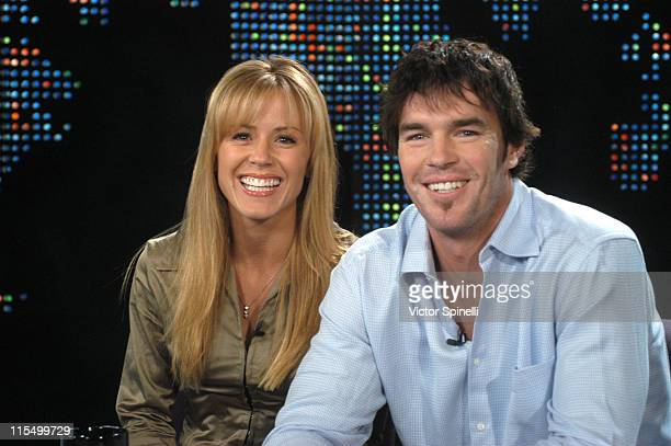 """Trista Rehn and Ryan Sutter during """"Larry King Live"""" with Trista Rehn and Ryan Sutter at CNN Los Angeles in Hollywood, California, United States."""