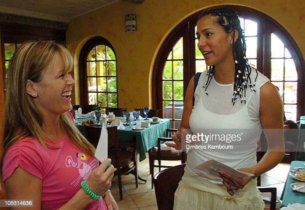 Trista Rehn and Sophia Luke during Sehorn's Corner Mother's Day Weekend Day 2 at Beaches Boscobel Resort and Golf Club in Ocho Rios Jamaica