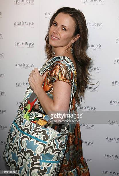 Trista Sutter arrives for the book release party Of 'The Hot Mom To Be Handbook Womb With A View' on April 2 2008 at Pea in the Pod in Beverly Hills...