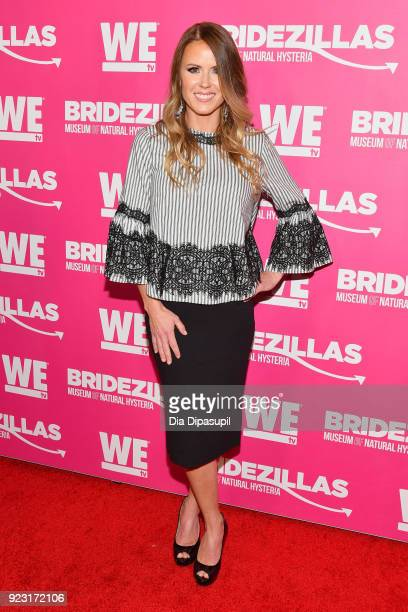 Trista Sutter attends WE tv Launches Bridezillas Museum Of Natural Hysteria on February 22 2018 in New York City