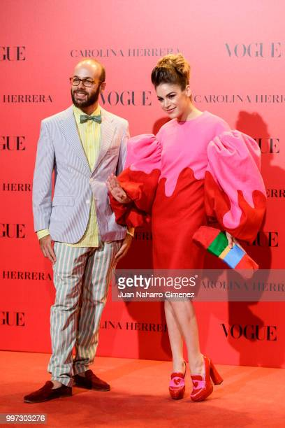 Tristan and Cosima Ramirez attend Vogue 30th Anniversary Party at Casa Velazquez on July 12 2018 in Madrid Spain