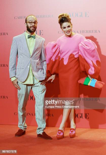 Tristan and Cosima Ramirez attends Vogue 30th Anniversary Party at Casa Velazquez on July 12 2018 in Madrid Spain