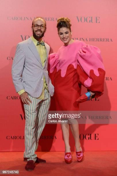 Tristan and Cosima Ramirez Ruiz de la Prada attends Vogue 30th Anniversary Party at Casa Velazquez on July 12 2018 in Madrid Spain