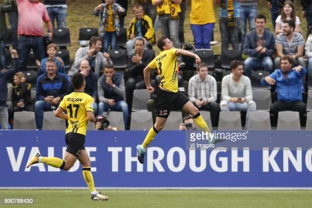 Tristan Dekker of VVVVenlo Clint Leemans of VVVVenlo during the Dutch Eredivisie match between VVV Venlo and Sparta Rotterdam at Seacon stadium De...