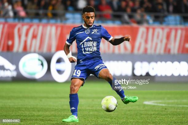 Tristan Dingome of Troyes during the Ligue 1 match between Troyes Estac and FC Nantes at Stade de l'Aube on August 19 2017 in Troyes
