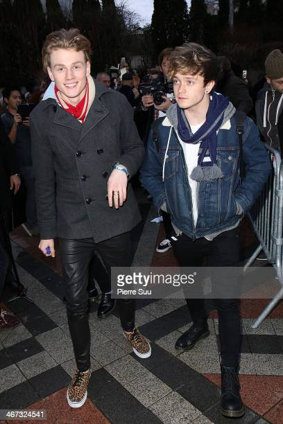 Tristan Evans and Connor Ball at The Vamps live showcase at meltygroup on February 6 2014 in Le KremlinBicetre France
