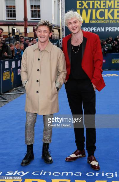 """Tristan Evans and Connor Ball attend the European Premiere of """"Extremely Wicked, Shockingly Evil And Vile"""" at The Curzon Mayfair on April 24, 2019 in..."""