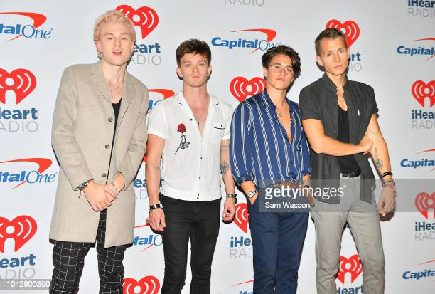 Tristan Evans Connor Ball Bradley Simpson and James McVey of The Vamps arrive at the iHeartRadio Music Festival at TMobile Arena on September 22 2018...
