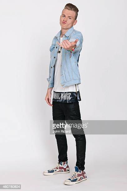 Tristan Evans from the band The Vamps is photographed for Word Up on June 18 2014 in Newark New Jersey