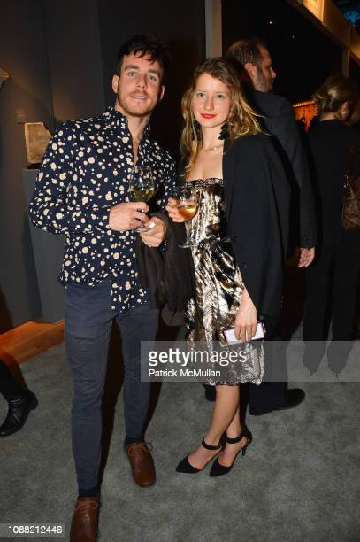 Tristan Ewald and Amelia Hoke attend Wendy Goodman and Zac Posen Host Young Collector's Night at the Winter Show A Benefit For East Side House at...