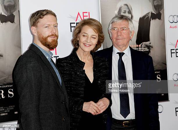 Tristan Goligher, Charlotte Rampling and Tom Courtenay attend a tribute to Charlotte Rampling and Tom Courtenay at AFI FEST 2015 presented by Audi at...