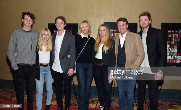 Tristan Gretsky guest Ty Gretzky actress Janet Jones Emma Gretzky NHL legend Wayne Gretzky and Trevor Gretzky attend the Los Angeles premiere of In...