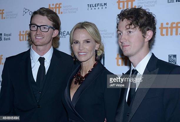 Tristan Gretzky actress Janet Jones and Ty Gretzky attend The Sound And The Fury premiere during the 2014 Toronto International Film Festival at...