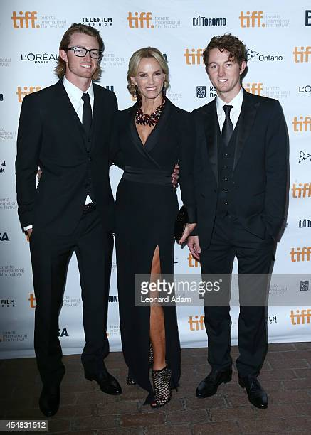 Tristan Gretzky actress Janet Jones and Ty Gretzky attend the The Sound And The Fury Premiere during the 2014 Toronto International Film Festival at...