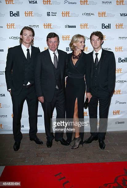 Tristan Gretzky NHL legend Wayne Gretzky actress Janet Jones and Ty Gretzky attend the The Sound And The Fury Premiere during the 2014 Toronto...