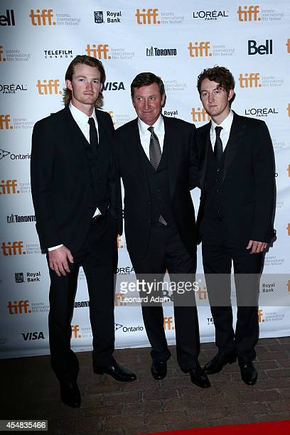 Tristan Gretzky NHL legend Wayne Gretzky and Ty Gretzky attend the The Sound And The Fury Premiere during the 2014 Toronto International Film...