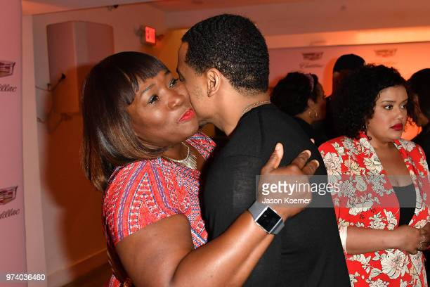 Tristan Mack Wilds and Bevy Smith attend the Cadillac Welcome Luncheon At ABFF Black Hollywood Now The Temple House on June 13 2018 in Miami Beach...