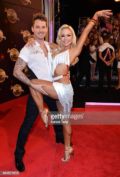 Tristan MacManus and Kristina Rihanoff attend the red carpet launch for Strictly Come Dancing 2014 at Elstree Studios on September 2 2014 in...