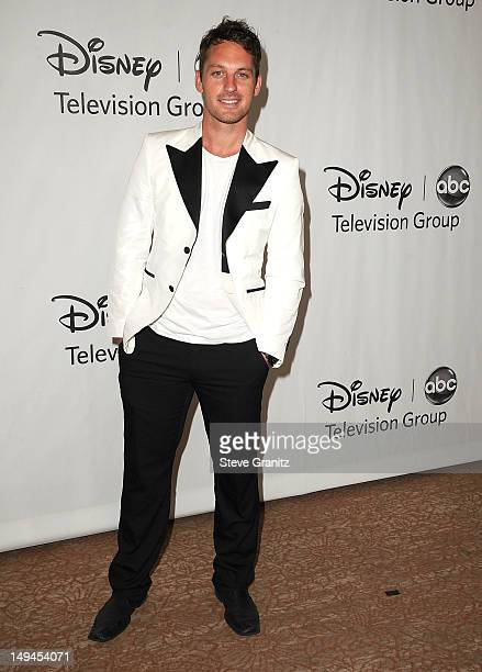 Tristan MacManus arrives at the 2012 TCA Summer Press Tour Disney ABC Television Group Party at The Beverly Hilton Hotel on July 27 2012 in Beverly...