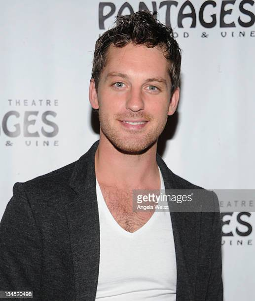 Tristan MacManus arrives at the opening night of Wicked at the Pantages Theatre on December 1 2011 in Hollywood California