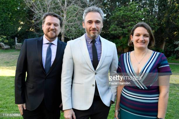 Tristan Myles British Consul General Michael Howells and Kirsty Myles attend the Reception For UK Oscars Nominees at British Consul General's...