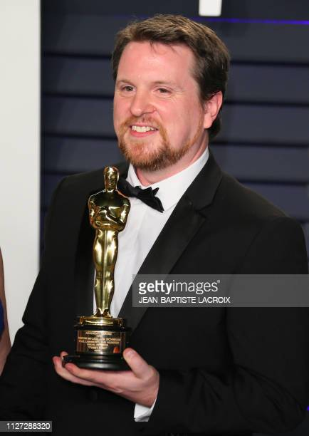 "Tristan Myles winner for Visual Effects ""First Man"" attends the 2019 Vanity Fair Oscar Party following the 91st Academy Awards at The Wallis..."