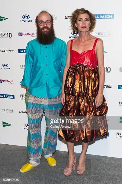 Tristan Ramirez and Agatha Ruiz de la Prada attend the 'Lifestyle' award 2017 at the Casa Encendida Cultural Center on June 7 2017 in Madrid Spain