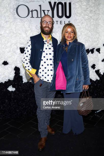 Tristan Ramirez and Begona Garcia Vaquero attend 'Ole You' party at Only You Hotel on April 24 2019 in Madrid Spain